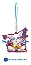 Digimon Plotmon, Tailmon Rubber Phone Strap Anime Manga NEW