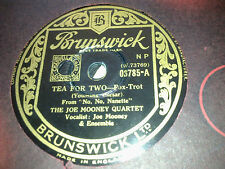 THE JOE MOONEY QUARTET TEA FOR TWO & WARM KISS AND COLD HEART BRUNSWICK 03785