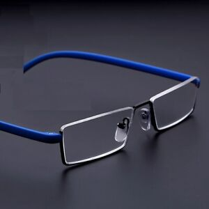 Anti Blue Light  Half Rimless Reading Glasses Flexible TR90  without case