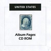USA Stamp Album 1847-2017 Album Pages Classic Stamps Illustrated