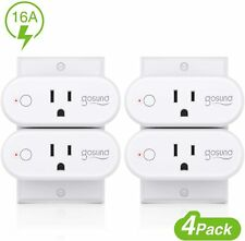 Smart plug,wp six, 16A Only Supports 2.4Ghz wi-fi pack of 4 used (scratch,mark)