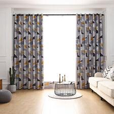 "1 Panel 120""W x 100""H Geometric Triangle Pattern Semi-Blackout Grommet Curtains"