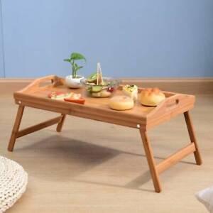 Frühstückstablett Bambus Betttablett Serviertablett Betttisch Lapdesk klappbar