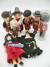 Group of Vintage Dolls in Ethnic Costumes--British