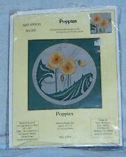Art-Stitch Karen Bourgaize Yellow Poppies AS-202 Counted Cross Stitch Kit