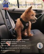 NWT!   Mega Pet Car / Auto Safety Seat Dog Harness - Large, Black
