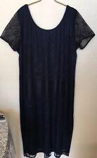 Caroline Wells Collection Crochet Navy Blue Dress Size 22