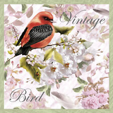 20 Servietten Serviettentechnik Vintage Bird Nouveau 33x33