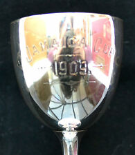 RARE ANTIQUE Walker and Hall Edwardian Silver Plated Cup Jamaica Cup Football