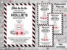 10 Personalised Birthday Invitations Party Invites 16th 18th 21st 30th Chanel