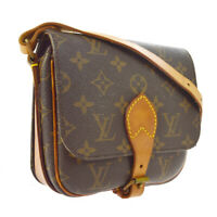 LOUIS VUITTON CARTOUCHIERE PM SHORT SHOULDER BAG PURSE MONOGRAM M51254 A43852g