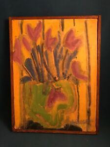 Denise Regan (American, 20th/21st Century) Listed Artist Oil on Canvas Tulip Pot