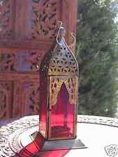 Linterna marroquí Estilo Vidrio & Hierro candelita sostenedor de vela ligera del té Casa Jardín
