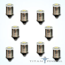 (10 Pack) - 6.3 Volt LED Bulb 1 SMD 44/47 Base (BA9S) Pinball - COOL WHITE