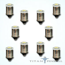 (10 Pack) - 6.3 Volt LED Bulb 1 SMD 44/47 Base (BA9S) Pinball - COOL WHITE