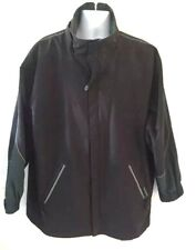 Perry Ellis Portfolio Men's Medium Lined Cost Jacket  Black Green