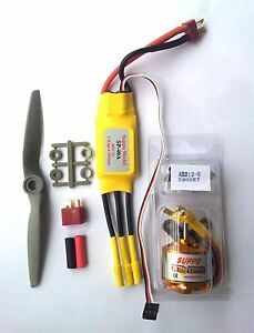 Brushless Motor Power Kit + ESC + Prop for up to 800g RC Model Aircraft. 2S & 3S