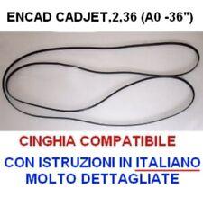 encad cinghia belt x plotter encad cadjet, cadjet2 con istruzioni in italiano
