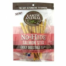 Earth Animal NO HIDE SALMON DOG STIX SMALL 10 PK Rawhide Alternative MADE IN USA
