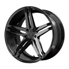 20x10 Verde Parallax 5x112 +42 Black Rims Wheels New (4)