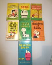 7 Vtg Peanuts Snoopy Charlie Brown Paperback Comic Books 50's 60's