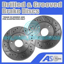 2x perforado y ranurado 5 Stud 245mm Solid OE Calidad Discos De Freno (Par) D_G_2098