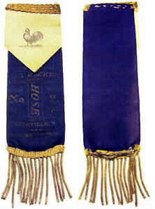 1881 Fireman Parade Ribbon Hose No. 2  Wellsville NY