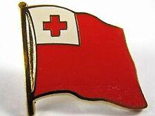 Tonga Flags Pin, 1,5 cm, New Pressure Cap