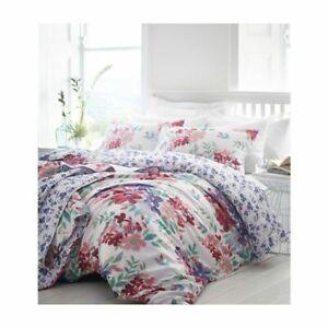 Kew Fuchsia Floral 100% Cotton Super King Duvet Cover Set Inc 2 Pillowcases