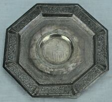 Antique china silver / silverplated octagonal server / plate  5 ¾ (BI#AR/180503)