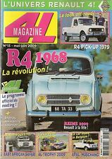 4L MAGAZINE 13 RENAULT 4 EXPORT 68 R4 PICK-UP TEILHOL APAL MUSCHANG 4X4 SINPAR