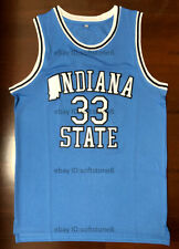 Larry Bird #33 Indiana State Men's Basketball Jersey All Stitched 2 Colors