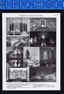 World Expositions - Architecture & Buildings - 1950s Print
