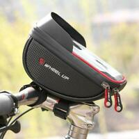 WHEEL UP Waterproof Bicycle Front Bag MTB Road Tube Frame Handlebar Touch