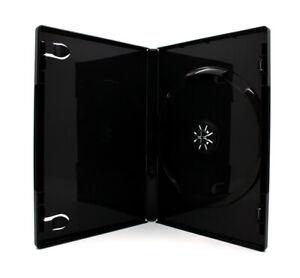 100 x 1 Fach DVD Hüllen für 1 CD / DVD / Blu-Ray Hülle | 14mm | Schwarz