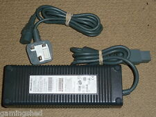 MICROSOFT XBOX 360 OFFICIAL GENUINE 175W UK MAINS POWER SUPPLY ADAPTER 175 WATT
