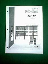 CANON PC-6RE PC6RE COPIER OPERATORS MANUAL