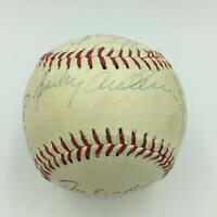 1982 Detroit Tigers Team Signed Baseball Sparky Anderson Alan Trammell JSA COA