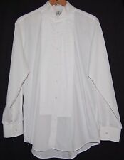 Vintage After Six Mens White Tuxedo Shirt LS Button Down L 16 16.5 33 34 Lined