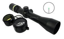 New 3-9x40 Fiber Optic Scope Green Triangle illuminated Rifle Scope + 30mm Mount