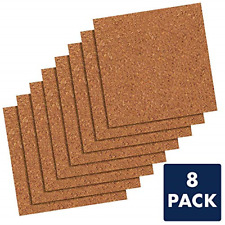 "Quartet Cork Tiles, 12"" x 12"", Cork Board, Bulletin Board, Mini Wall, 8 Pack 108"