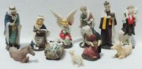 Beautiful 11pc Old World Style Christmas Nativity Set.