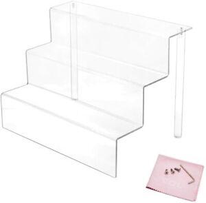 💥Expositor Transparente con estantes en 3 Niveles acrílico. 22.9x15.9x15.2cm
