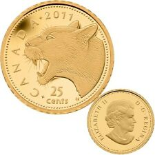 2011 Canada 25 cent 0.5 g Fine Gold Coin - Cougar - Tax Exempt