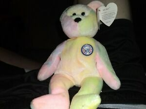 bb bear beanie baby Without Birthday,625.00,rare 1999