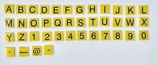 Yellow 2x2 Alphabet Letter & Number Bricks Total 91 Pieces  For Lego
