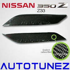Carbon Fiber Car Eyelid Eyebrow For Nissan 350Z Z33 Fairlady Z Autotunez Black