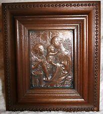 Magnifique gravure sur cuivre Vierge à l' Enfant de Charles BERTAULT en 1894