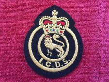 Industrial Civil Defence Service ICDS Cloth Badge Patch Home Guard