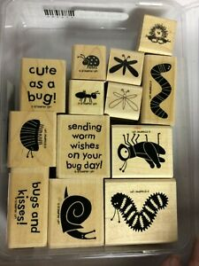Lot of 13 Craft Bug Stamps
